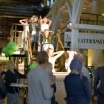 Foto på Ungdomar från dansföreningen Le Piqué från Karlshamn som inledde invigningskvällen.