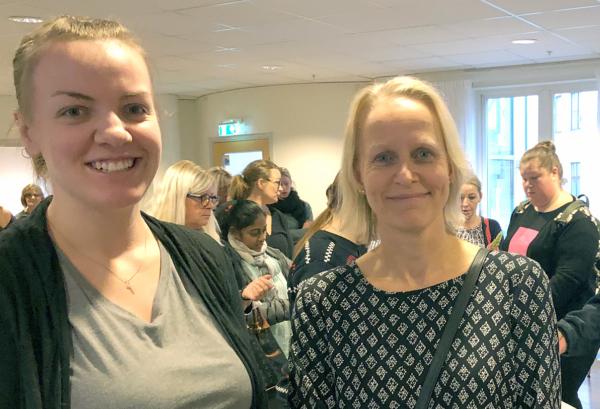 Foto på Undersköterskorna på Annika Haghamre och Hanna Johnsson.