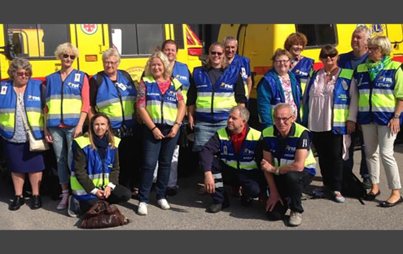 Foto på medlemmar i frivilliga resursgruppen
