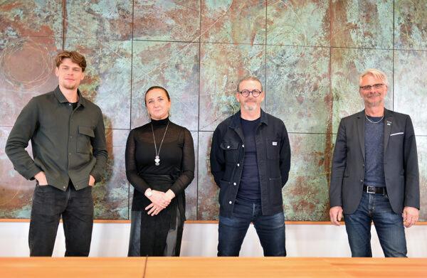 Johan Hultgren, Emina Kovacic, Johan Lindau och Lars Nilsson