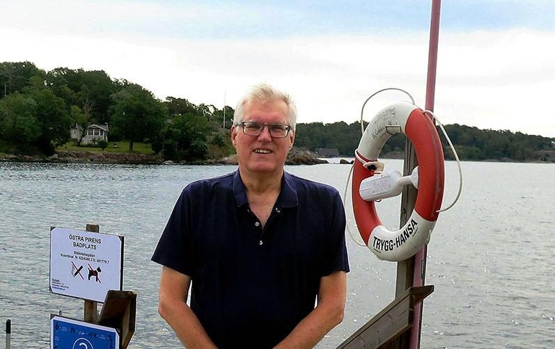 Göran Lindgren som lämnat in ett Karlshamnsförslag.