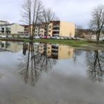 Foto på översvämning vid Bryggeritomten