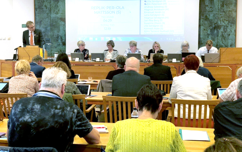 Kommunfullmäktiges budgetmöte 2019. Fotograf Annette Sandberg
