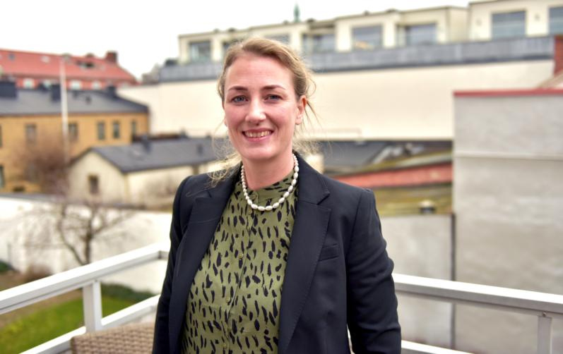 Foto på Malin Johansson, enhetschef avlösar- och ledsagarservice.