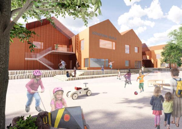 Visionsbild, Mörrums nya skola