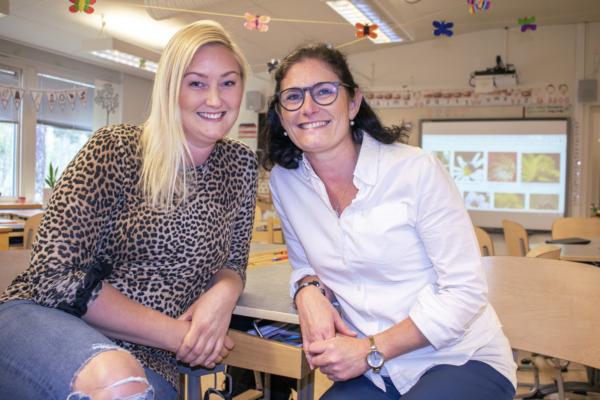 Mentorer engagerade i fjärílsprojekt.