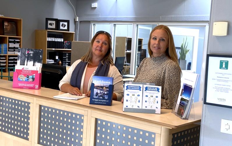 Tillfällig turistbyrå i torgpaviljongen i Karlshamn