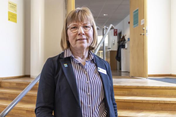 Torill Skaar Magnusson, förvaltningschef för omsorgsförvaltningen, Karlshamns kommun, var på plats vid det första utbildningstillfället i Rådhussalen.