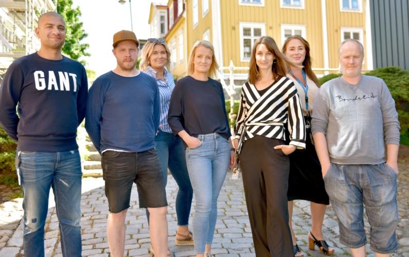Foto på ungdomsteamet